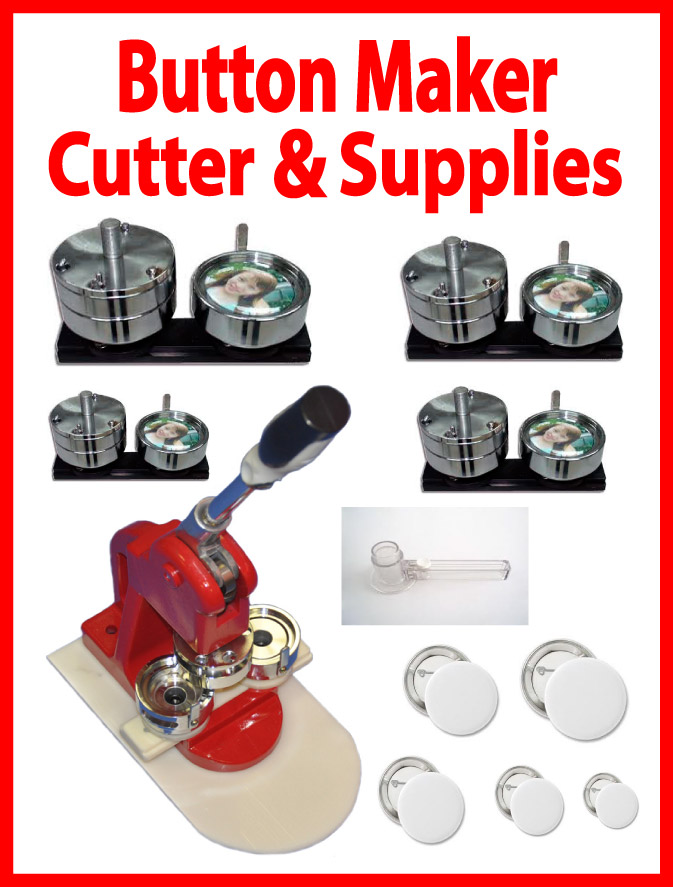 5IN1 Button Maker Press,5sets Mold, 500sets Button,Circle Cutter