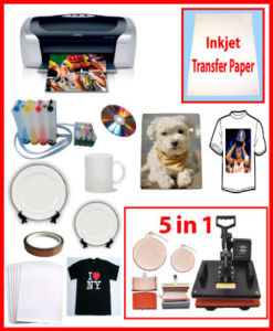 5in1 Heat Press,Epson Printer C88,Sublimation CISS Package