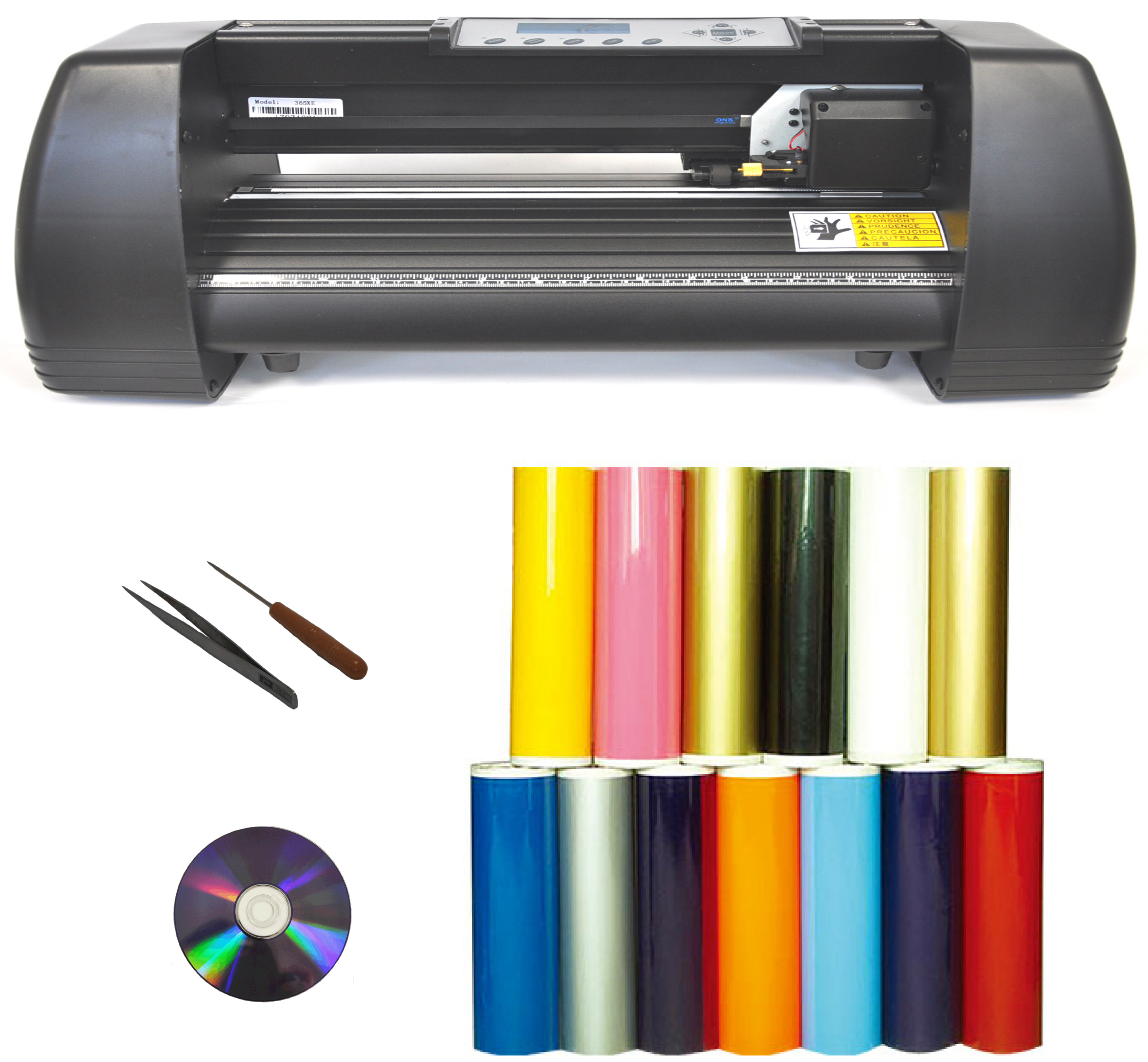 "14"" 500g force Laser Point Vinyl Cutter Plotter Package"