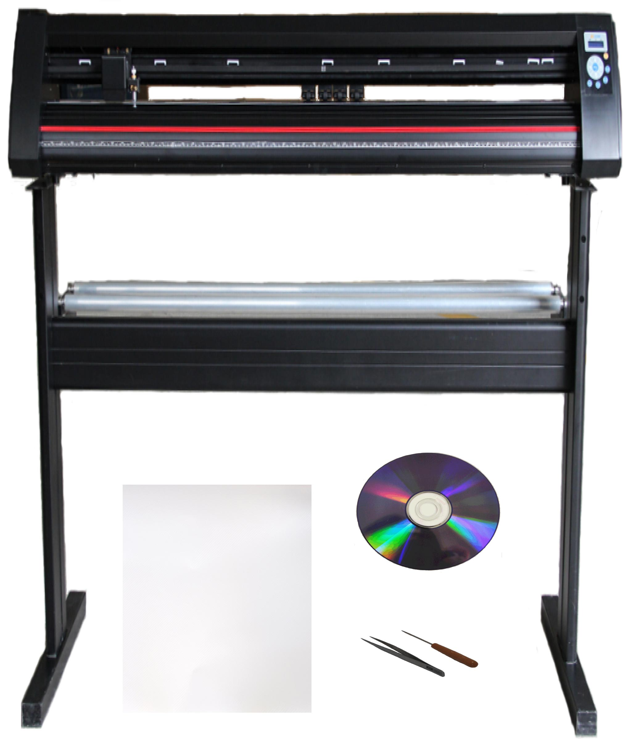 "28"" 500g Force Metal Auto Contour Vinyl Cutter Plotter Bundle"