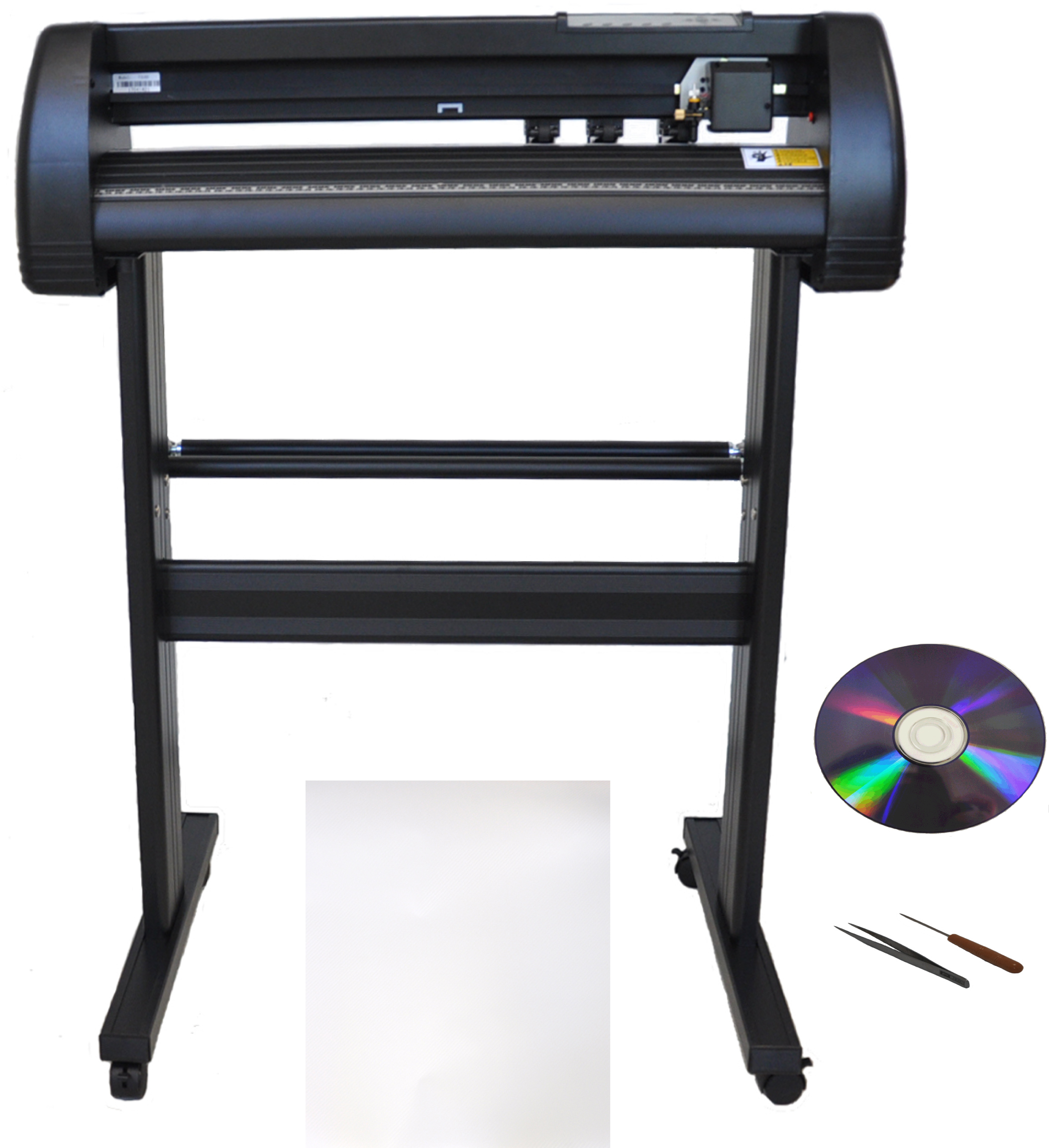 "28"" 500g Force Laser Point Vinyl Cutter Plotter Bundle+Laser Eye"