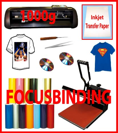 "13""Metal 1000g Vinyl Cutter Plotter,15x15 Heat Press,PU Vinyl"