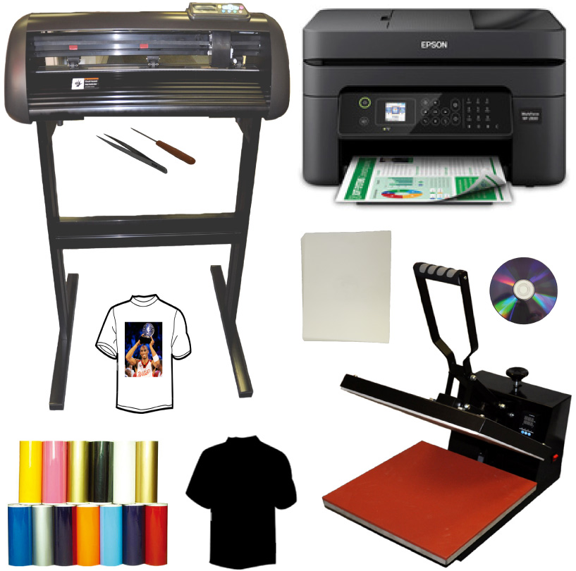 15x15 Heat Press,Epson Wireless Printer,HTV Vinyl Heat Transfer