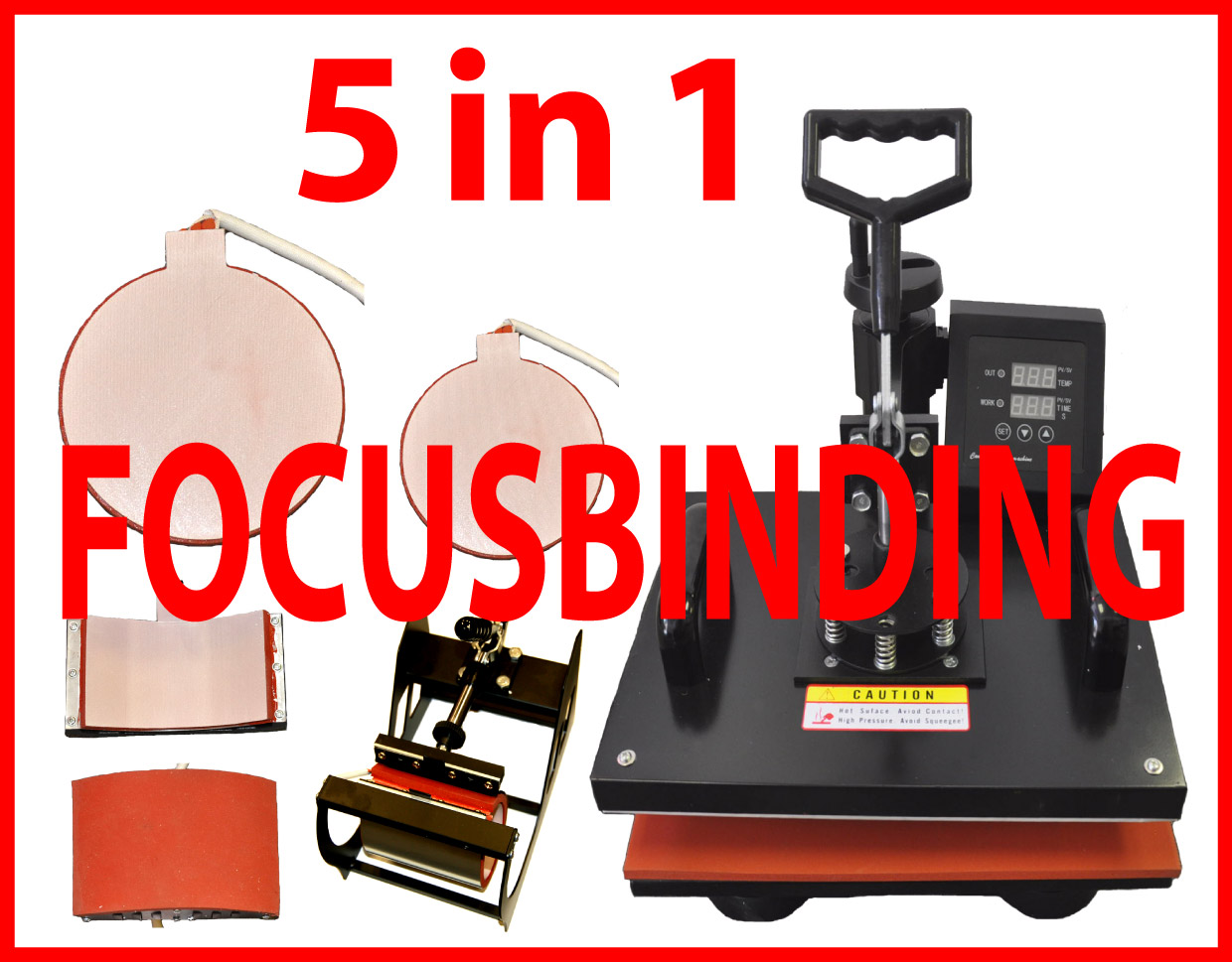 5 in 1 Multifunction Digital Heat Press