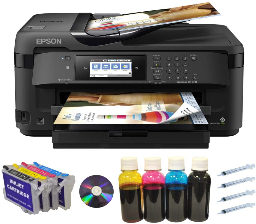 Epson Workfoce 7710 All-in-1 13x19,refil+400ml Ink+Wireless