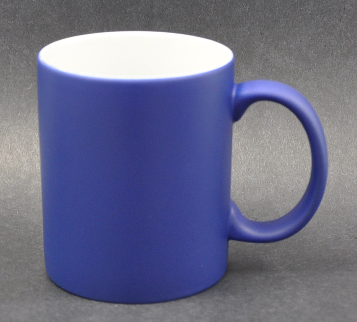 11oz Matte Blue Color Sublimation Coated Magic Mugs