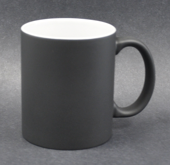 11oz Matte Black Color Sublimation Coated Magic Mugs