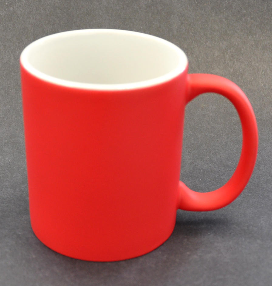 11oz Matte Red Color Sublimation Coated Magic Mugs