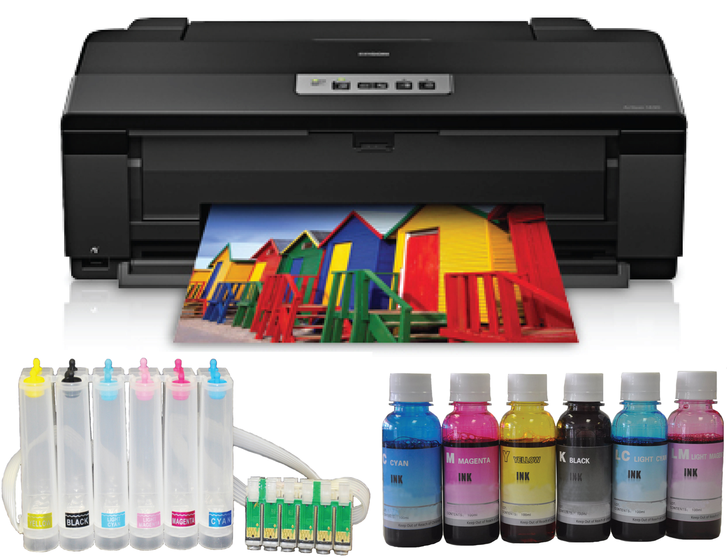 "Epson Artisan1430 Printer, 13""x19"" + CISS+ Dye Bulk Ink"