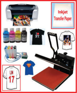15x15 Heat Press,Epson Printer,CISS,PU Vinyl Heat Transfer