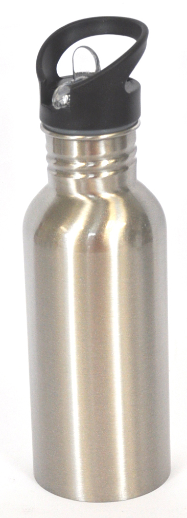 600ml Silver Sublimation Coated Water Bottle