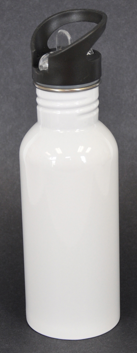 600ml White Sublimation Coated Water Bottle